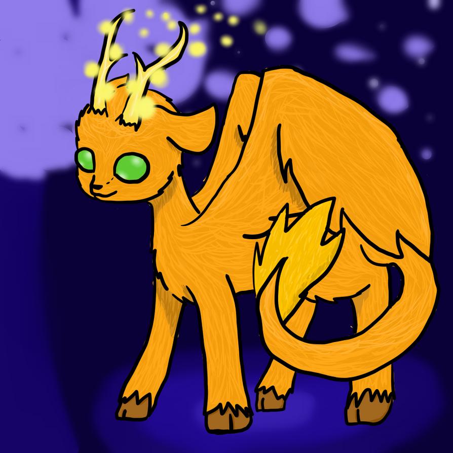 Firefly Deer by TheGoldenAxolotl