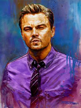 Leonardo Dicaprio Gouache painting