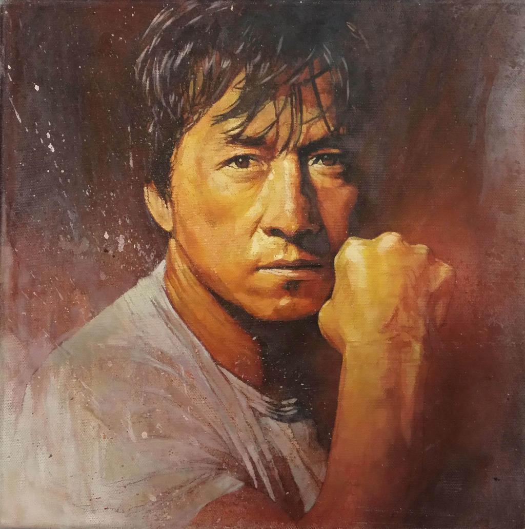 Jacky Chan Painting by sebastiancheng