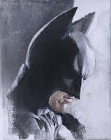 Batman Arcylic Painting by sebastiancheng