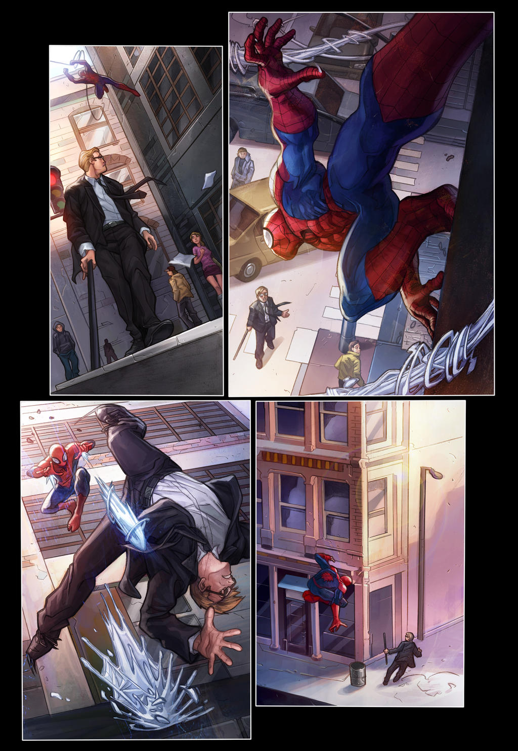 DareDevil colored page by sebastiancheng