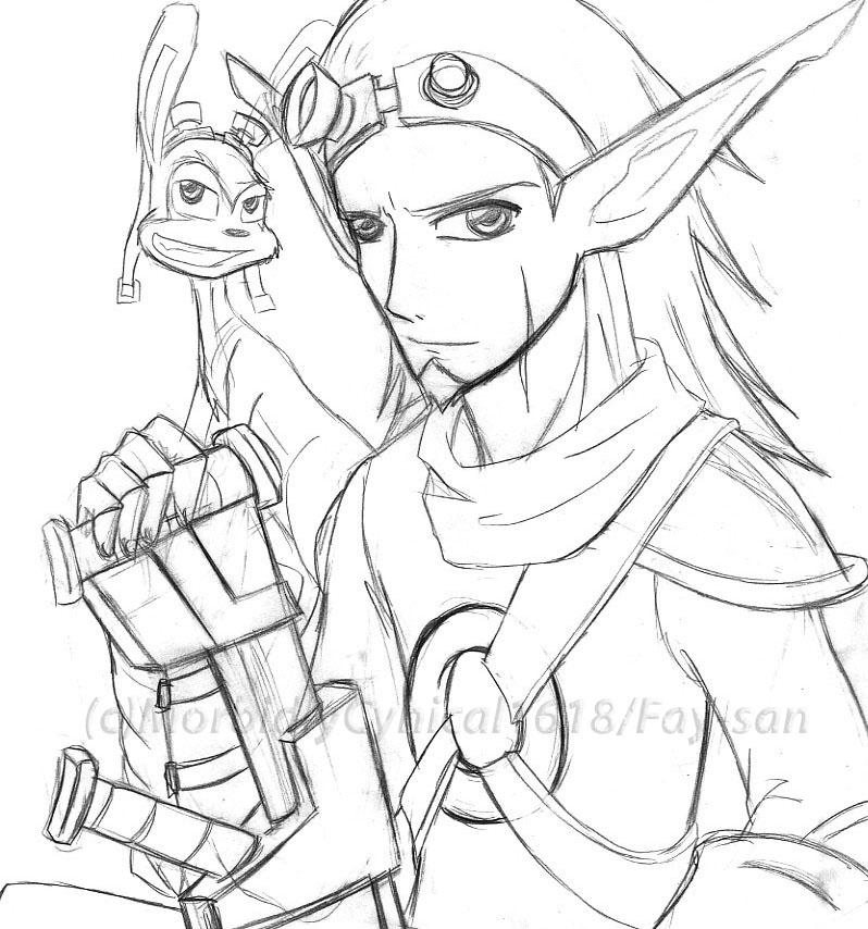 How To Draw Jak And Dexter Jak And Daxter Coloring Pages