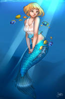 Mermaid Commission by Eltheran