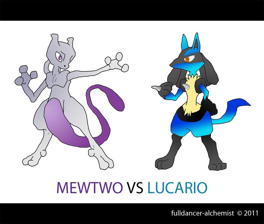 Mewtwo vs Lucario by fulldancer-alchemist on DeviantArt