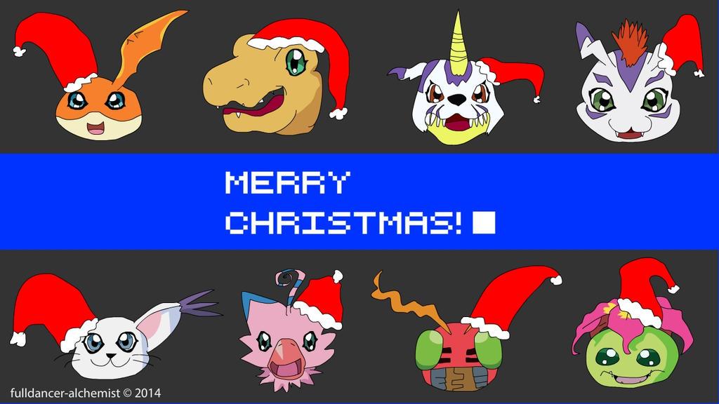 Merry Christmas from Digimon by fulldancer-alchemist