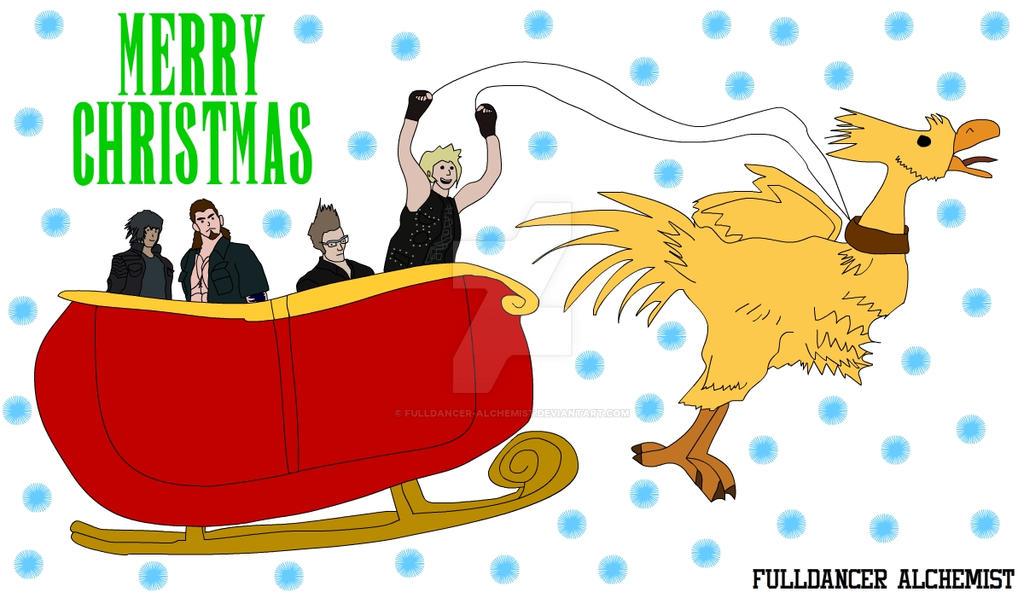 Final Fantasy XV in Merry Christmas celebration by fulldancer-alchemist