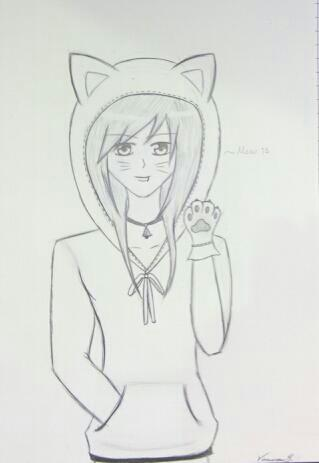 Anime Boy With Hoodie Drawing Anime Boy Base Cat Hoodie Base By