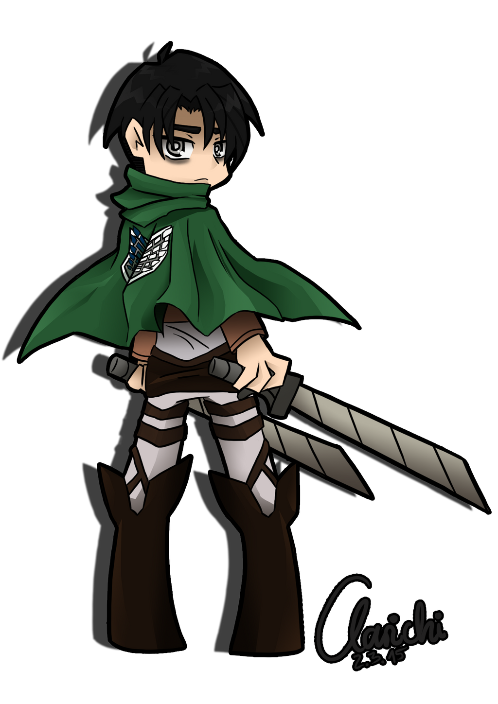 Levi Ackerman PSG Style by Clarichi on DeviantArt
