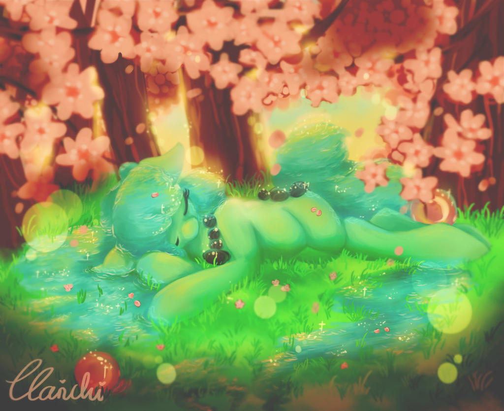 Sleeping under Cherry Trees by Clarichi