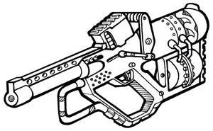 Steampunk Gun by Legato895