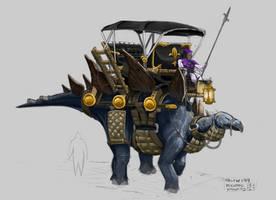 IDotW199 - Renaissance Dinosaur Wagon by Legato895