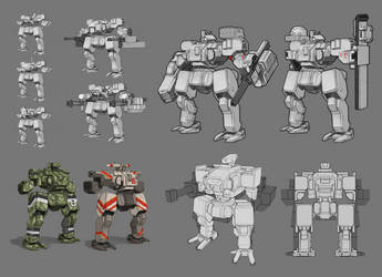 Mech Sketches by Legato895