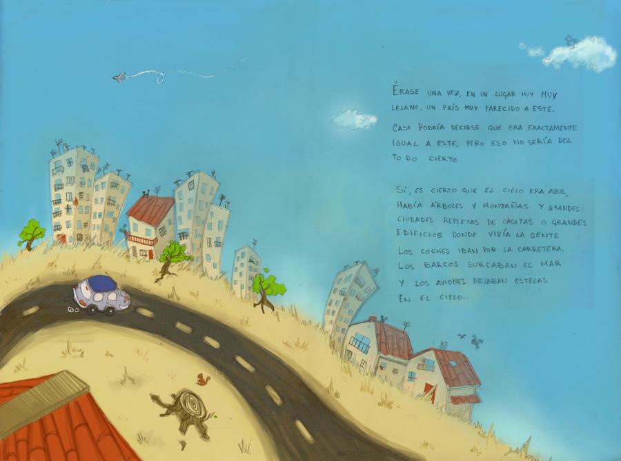 WIP - pajaros en la cabeza paisaje by Anima-en-Fuga