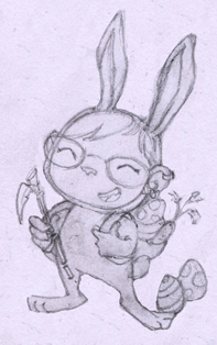 Teemo cottontail sketch by Anima-en-Fuga
