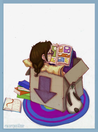 reading in a box by Anima-en-Fuga