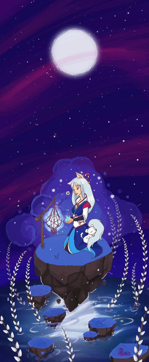 Spirit Fox - Comission by Anima-en-Fuga