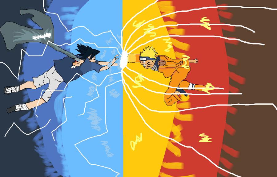 naruto kyuubi vs sasuke - photo #3