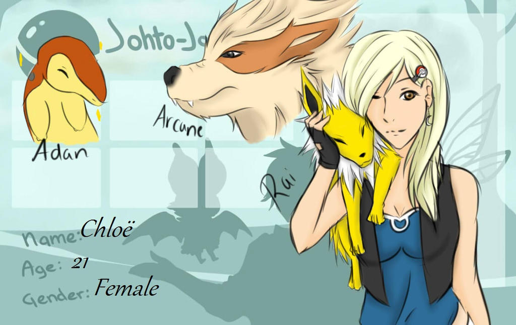 Johto Journey Chloe application by Myo-Senpai