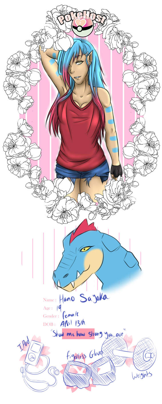 PokeHost: The Gator is back! Hano Sayaka by Myo-Senpai