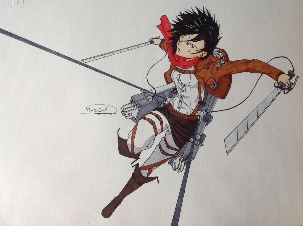 Mikasa Ackerman - Shingeki no kyojin - 2 by Cintitacinti