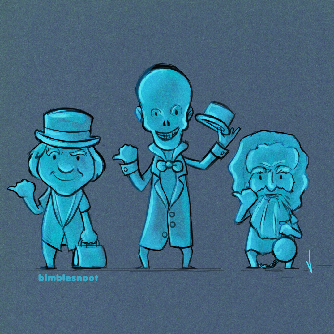Haunted Mansion's Hitchhiking Ghosts!