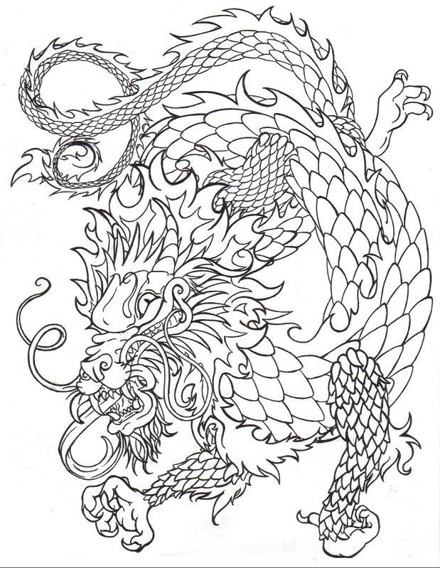 Chinese dragon line by death-of-a-salesman on DeviantArt