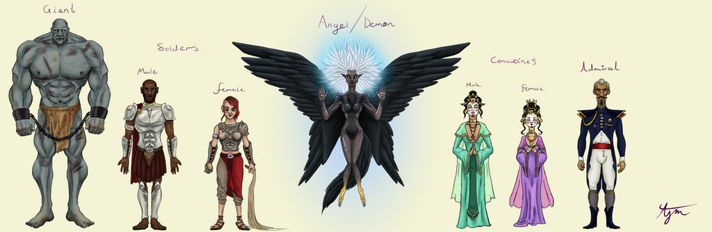Fantasy Character Design Sheet : Unamed fantasy character design sheet by kuzim on deviantart
