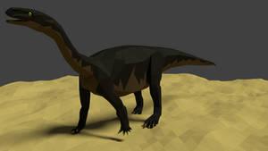 Melanorosaurus in Low Poly