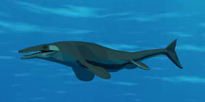 Tylosaurus in Low Poly by kuzim