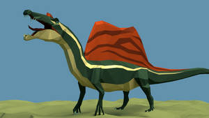 Spinosaurus in low Poly by kuzim