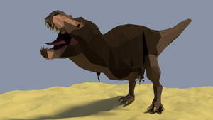 Tyrannosaurus in low poly by kuzim