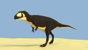 Giganotosaurus in Low Poly