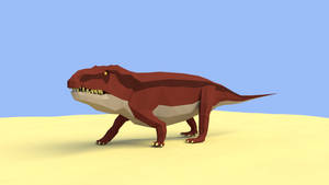 Erythrosuchus in low poly