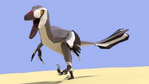 Deinonychus in Low Poly