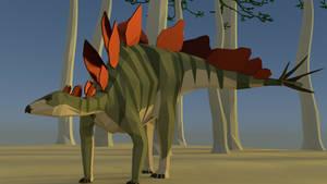 Stegosaurus in Low Poly