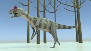 Crylophosaurus in Low Poly by kuzim