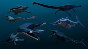 Marine Reptiles Panoply
