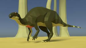 Camptosaurus In Low Poly