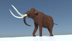 Wooly Mammoth in Low Poly