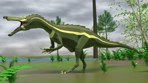 Baryonyx in Low Poly