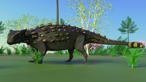Ankylosaurus In Low Poly