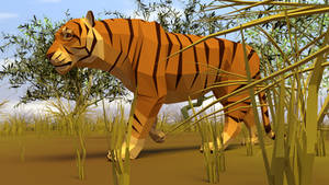 Tiger in Low Poly