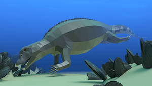 Placodus In Low Poly