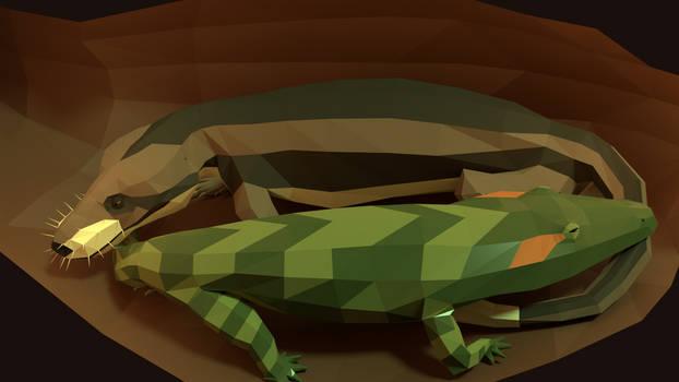 Cuddle Buddies: an Early Triassic scene