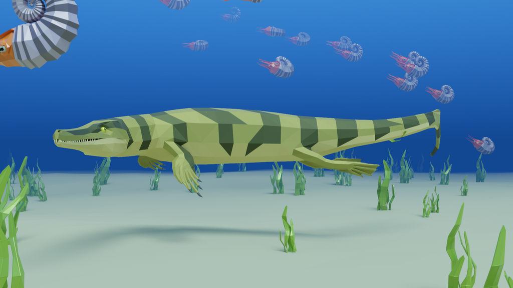 Metriorhynchus In Low Poly