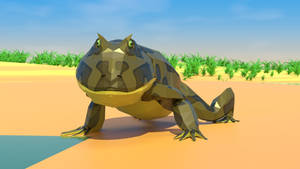Beezlebufo In Low Poly