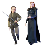A Song Of Tris and Polys: Sansa and Arya Stark