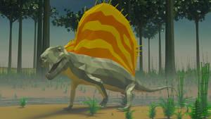 Dimetrodon in Low Poly
