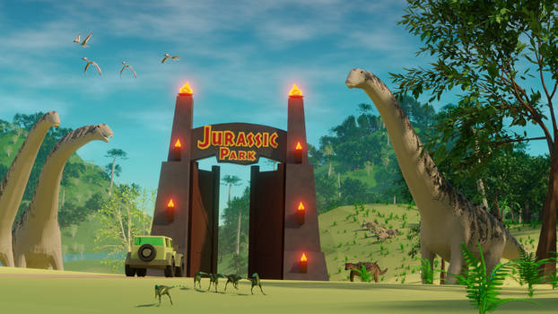 Welcome to Lowpoly Jurassic Park.