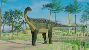 Nigersaurus in Low Poly